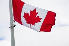 Bakground национального флага Канады Стоковое фото RF