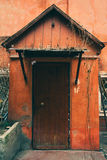 Bakground старой двери винтажное, старая дверь в старом доме Стоковая Фотография RF