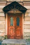 Bakground старой двери винтажное, старая дверь в старом доме Стоковые Фото