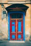 Bakground старой двери винтажное, старая дверь в старом доме Стоковое Фото