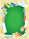 Bakground школы на зеленой доске бесплатная иллюстрация
