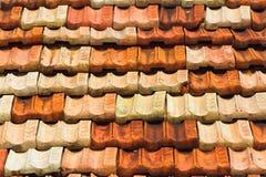 Bakground del tejado de teja Imágenes de archivo libres de regalías