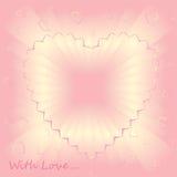 Bakground dentellare romantico con amore illustrazione vettoriale