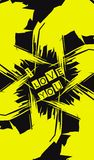 bakground negro amarillo de la inscripción stock de ilustración