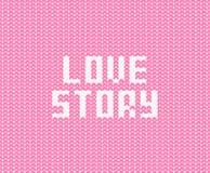 Bakground rosa pastello del modello di vettore con l'iscrizione bianca di storia di amore illustrazione vettoriale