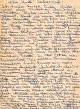 bakgrund är kan fragment tyskt använt handskrivet gammalt för bokstav skrivet Kan vara Royaltyfri Fotografi