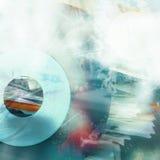 bakgrund är kan olika använda illustrationmusikavsikter Fotografering för Bildbyråer