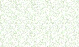Bakgrund äta sunt Vektorgrönsaksymboler seamless textur Royaltyfria Foton