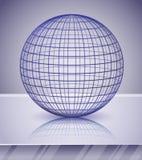 bakgrund 3d över blank sphere Fotografering för Bildbyråer