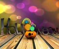 bakgrund 3D av halloween Royaltyfri Bild