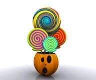 bakgrund 3D av halloween Royaltyfria Foton