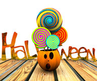 bakgrund 3D av halloween Arkivbild