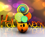 bakgrund 3D av halloween Royaltyfri Foto