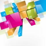 bakgrund 3d blockerar färgrikt Royaltyfria Bilder