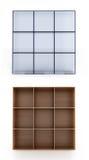 bakgrund 3d shelves white Arkivfoton
