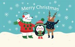 Bakgrund av älskvärda jultecken Arkivfoto