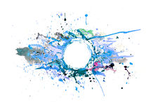 Bakgrund av abstrakt sprutmålningsfärg Royaltyfria Foton