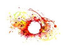 Bakgrund av abstrakt sprutmålningsfärg Arkivfoto