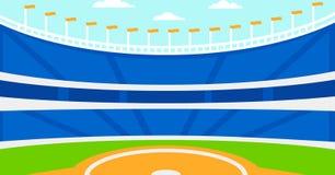 Bakgrund av baseballstadion Arkivfoto