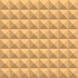Bakgrund av beigea fyrkanter med skuggor och kanter, i form av en grafisk geometrisk volymetrisk mosaik n stock illustrationer
