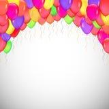 Bakgrund av blåa ballonger Arkivfoto