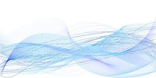 Bakgrund av blåa kaotiska linjer Arkivbild
