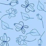 Bakgrund av blåa rosor stock illustrationer