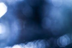 Bakgrund av blått LEDDE ljus med bokeheffekt Royaltyfri Bild