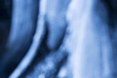 Bakgrund av blått LEDDE ljus med bokeheffekt Arkivbild