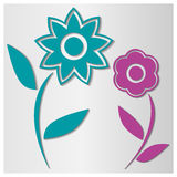 Bakgrund av blommor, vektorillustration Royaltyfri Foto