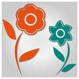 Bakgrund av blommor, vektorillustration Royaltyfria Bilder