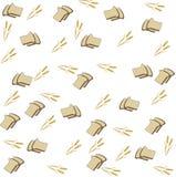 Bakgrund av brödet och spikeletsna stock illustrationer