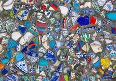 Bakgrund av brutna plattor Royaltyfria Bilder