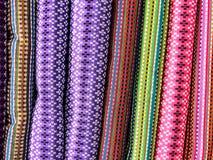 Bakgrund av Burmese silke 1 Royaltyfri Fotografi
