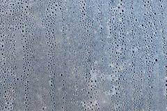 Bakgrund av condensatedropparna på filmen är polyetylen samlingen tappar texturvatten Royaltyfri Fotografi