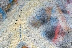 Bakgrund av den gamla målade väggen Royaltyfria Foton