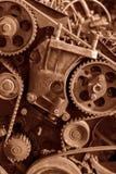 Bakgrund av den gamla motorn Royaltyfri Fotografi