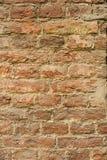 Bakgrund av den gamla tappningtegelstenväggen Arkivfoton