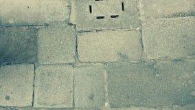 Bakgrund av den gamla tappningtegelstenväggen Royaltyfria Bilder
