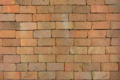 Bakgrund av den gamla tappningtegelstenväggen arkivfoto