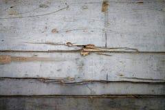 Bakgrund av den gamla träväggen målade med silver Arkivbild