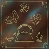 Bakgrund av den gamla tunnbindarev royaltyfri illustrationer