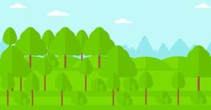 Bakgrund av den gröna skogen Arkivbilder
