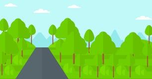Bakgrund av den gröna skogen Royaltyfri Foto