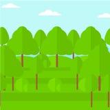 Bakgrund av den gröna skogen Fotografering för Bildbyråer