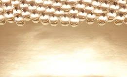 Kristallen pryder med pärlor Fotografering för Bildbyråer