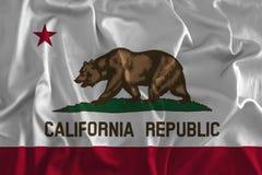 Bakgrund av den Kalifornien statflaggan vektor illustrationer