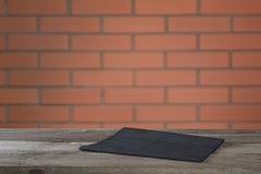 Bakgrund av den nya bruna tegelstenväggen Abstrakt begrepp Fotografering för Bildbyråer