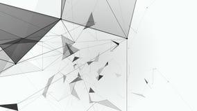 Bakgrund av den svartvita plexusen för fantasi Futuristiskt nätverk för abstrakt teknologi royaltyfri illustrationer