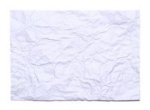 Bakgrund av det vit skrynkliga arket av papper Royaltyfria Foton